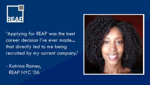 """Katrina Rainey: """"Applying for REAP was the best career decision I ever made…"""""""