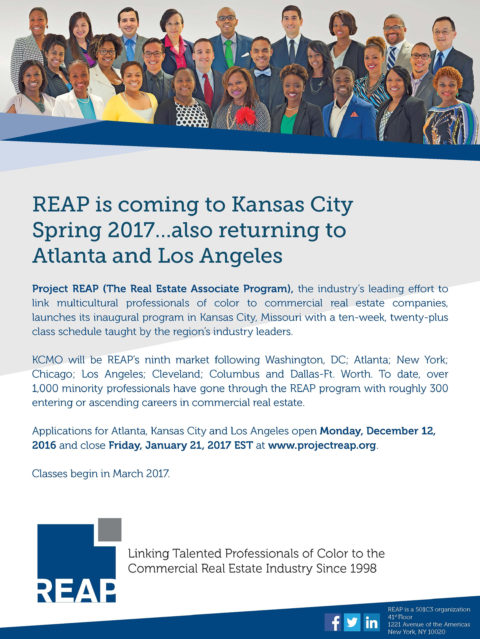 REAP is Coming to Kansas City