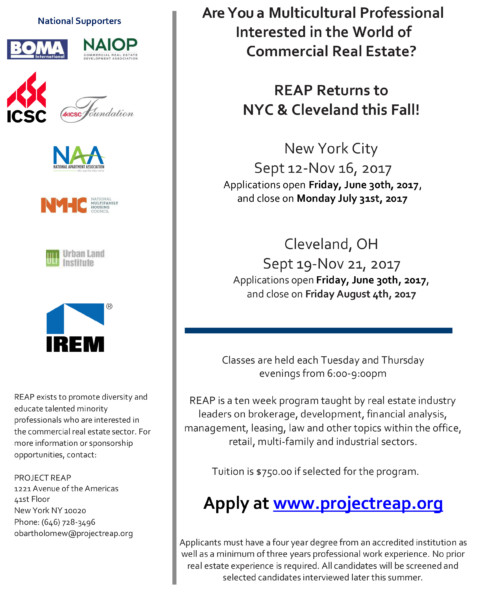 REAP Returns to NYC & Cleveland This Fall!