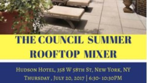 The Council Summer Rooftop Mixer, presented by Avant-Garde Network