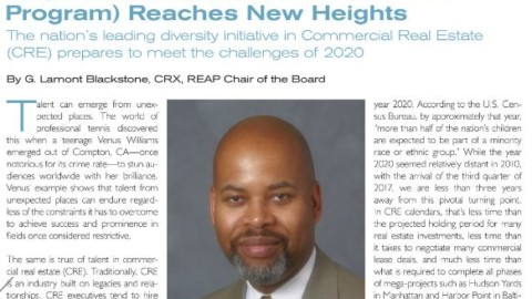 "REAP Board Chair G. Lamont Blackstone in Mann Publications: ""Project REAP Reaches New Heights"