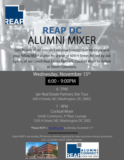REAP DC Alumni Fall Mixer, Nov. 15th