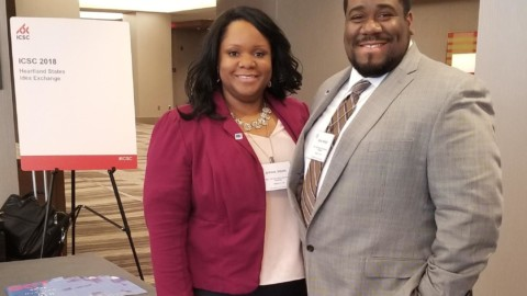 REAP KC '17 Alums David Wright & Myeisha Wright attend ICSC Heartland States Exchange 2018
