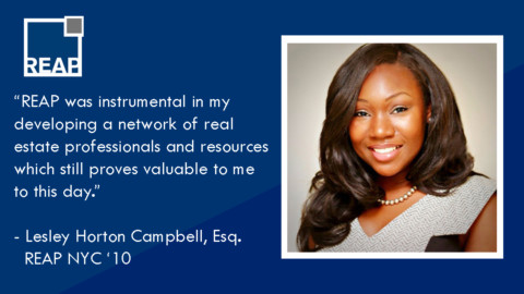 "Lesley Horton Campbell: ""REAP was instrumental in my developing a network…"""