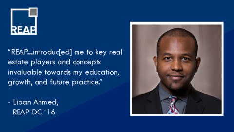 "Liban Ahmed: ""REAP provided me with a behind the scenes look…"""